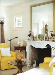 Albert Hadley - more mellow yellow Decor, Furniture, Interior, Home, Modern House Design, House Interior, Yellow Living Room, Home Interior Design, Interior Design