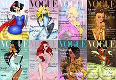 Disney Princesses for VOGUE Magazine