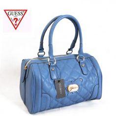 Guess Chic Women's Zipper Quilted Bowling Boston bag Satchel Handbag