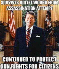 Right Wing Myths Debunked: Ronald Reagan and Gun Rights Pro Gun, President Ronald Reagan, 40th President, Ronald Reagan Memes, Gun Rights, Out Of Touch, Thing 1, Conservative Politics, Conservative Quotes