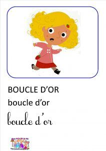 Boucle D Or Et Les 3 Ours Imagier Les 3 Ours Boucles Et