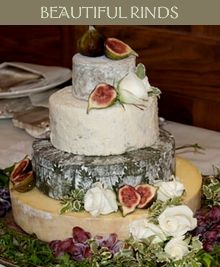 Fresh figs and herbs make this wedding cake a stand out