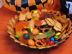 Wiggly Worm Trail Mix from Food.com: I made this for my daughter's soccer team this spring, and have been making it ever since. It is a quick, easy snack that can go anywhere, and the kids love it!! This recipe calls for peanuts, but can be replaced with something else if you are making it for kids with peanut allergies.