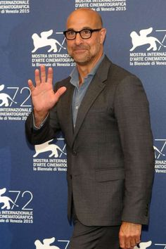 """Stanley Tucci attends the """"Spotlight"""" photocall at the Venice Film Festival on Sept. Cinema Theatre, Theater, Older Mens Fashion, Stanley Tucci, Nick Wooster, Men Over 50, The Lovely Bones, Vintage Bra, Best Supporting Actor"""