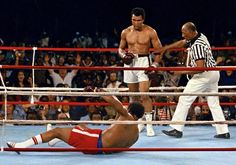 Muhammad Ali vs George Foreman (1974): Muhammad Ali entered the Rumble in the Jungle after losing first to Ken Norton and then to Joe Frazier in his last title fight. Foreman came from destroying those two fighters in second round knockouts. Ali would shock the world again as he won the heavyweight title for the second time in his career.