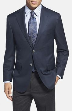 Men's Corneliani Trim Fit Wool Blazer