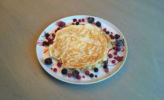 Eiwitrijke pannenkoeken Go For It, Atkins, Superfood, Hummus, Pancakes, Good Food, Low Carb, Eggs, Keto