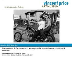 #Thisfunktional will be attending #Tastemakers & #Earthshakers: Notes from #LA #YouthCulture 1943-2016 at the #VincentPriceArtMuseum. The #OpeningReception will be Oct. 15 5-8 P.M. Admission is free. The evening includes the launch of #VPAM's new store with pop up shops by #SeiteBooks and #Mandujano/#Cell as well as a reception with #TacosArabe food truck and a Cash Bar. Tastemakers & Earthshakers: Notes from Los Angeles Youth Culture 1943  2016 is a multimedia exhibition that traverses…