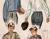 1940s Advance 3968 Vintage Sewing Pattern Men's by midvalecottage. $12.00, via Etsy.