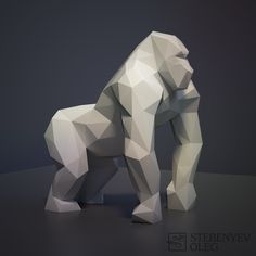 Low Poly Animals for 3D Printing on Behance