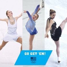 Gracie Gold , Ashley Wagner and Polina  Edmunds.