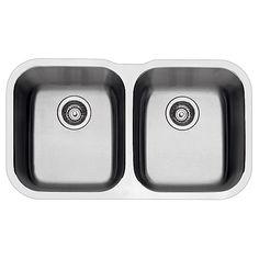 """""""Essential"""" Undermount Double Kitchen Sink -Rona"""