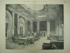 Lounging-Room at the University Club, New York, NY, 1899, McKim, Mead & White