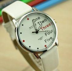 Simple Stylish English Symbol Wrist Watch - Watches - Accessories Free shipping Worldwide.