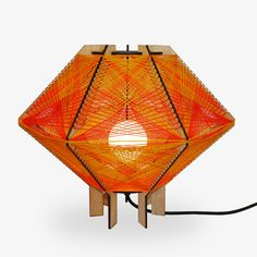Andromeda Star Table Lamp in the Sunset color way. Sculptural mid-century modern inspired lighting