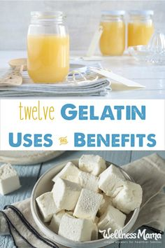 There are many gelatin uses and benefits. It is great for hair skin nails digestion immune function joints and more. Real Food Recipes, Yummy Food, Delicious Recipes, Health Recipes, Health Tips, Diabetic Recipes, Keto Recipes, Gelatin Recipes, Wellness Mama