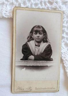 Antique HUN small CDV/visit card, little girl Herz B. Small One, Budapest, Little Girls, Vintage Fashion, Antiques, Frame, Cards, Ebay, Decor