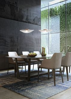DINING ROOM IDEAS | Beautiful dining room, modern  pendant  | www.bocadolobo.com #diningroomdecorideas #moderndiningrooms