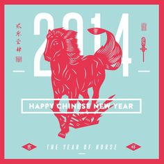 Chinese New Year 2014 (Horse Year) by Faridz Design Suite, via Behance  --  Year of the Horse is our birth year...