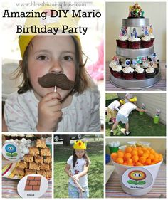 Mario Birthday Party Ideas - super cute and easy!