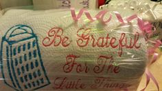 Be Grateful!! Embroidered Kitchen Roll by DeonnaKohnenhandmade on Etsy