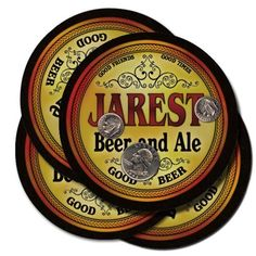 Jarest Family Name Brand Beer & Ale Drink Coasters - Set of 4 by Fantasy Brands, http://www.amazon.com/dp/B008FMTSY4/ref=cm_sw_r_pi_dp_ydd3rb0MKYFCC