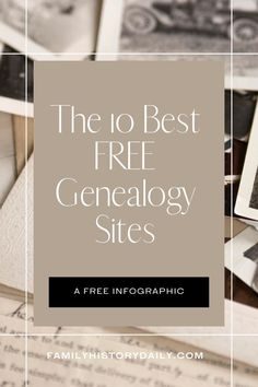 There are many free genealogy sites available to help you track down the information you need. Of course, only you can determine the best sites for your own family history research—but we thought it would be useful to share 10 of our favorites. Enjoy! Free Genealogy Sites, Free Infographic, Free Website, Family History, Things To Think About, Genetics, Ancestry, Track, Runway