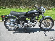 1971 Norton Commando 750 (fell off a Norton when a guy made slow turn ~ no one got hurt but the key broke off in the ignition)