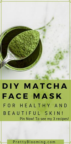 Matcha green tea isn't just for drinking. Learn why you should be putting it on … Matcha green tea isn't just for drinking. Learn why you should be putting it on your face, and how to make a DIY matcha face mask! Diy Mask, Diy Face Mask, Face Masks, Smoothie Bowl, Natural Beauty Tips, Natural Skin Care, Mochi, Matcha Face Mask, Green Tea Face
