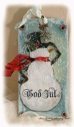 Anne's paper fun: Tim Holtz : 12 tags of Christmas...day 10