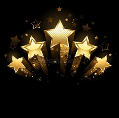 Illustration about Five shining stars of gold foil on a black background. Illustration of designer, conceptual, contrast - 30829244 Lord Krishna Wallpapers, Star Background, Star Wallpaper, Star Logo, Shining Star, Music Covers, Pattern And Decoration, Gold Stars, Journal Cards