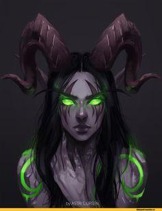 Warcraft,Blizzard,Blizzard Entertainment,фэндомы,Demon Hunter,AstriSjursen,Warcraft art,World of Warcraft,Warcraft расы