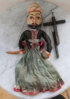 Rare Antique INDIA Rajasthan puppet