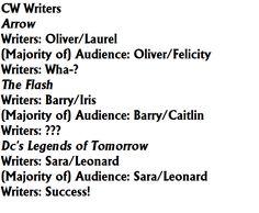 The CW Writers' Struggle, sad thing is I ship Sara and rip<<<I ship Sara and Leonard
