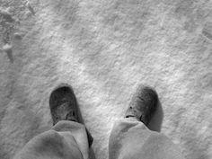 Die Ruhe und den Schnee genießen