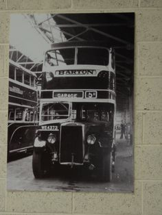 The mainstay of Barton Transport's double decker fleet at the beginning of the second World War was  the magnificant Leyland Titan. This photograph on display inside the Chilwell garage depicts fleet number 386, a TD1 example