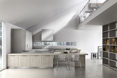 Contemporary kitchen / wood / island / lacquered BETA ARMONY CUCINE