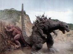Godzilla vs. Baragon in Godzilla, Mothra, King Ghidora: Giant Monsters All-Out Attack