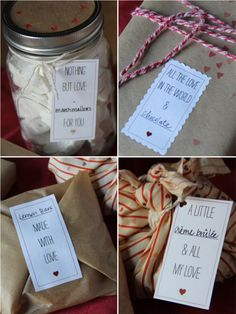 Cute Valentine Food Gift Lables.  These could be used all year too  Via @emmykastner