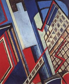 'New York' by Wyndham Lewis Abstract Geometric pattern. The colours and shapes are bold creating a statemnt about the size of New York City. Wyndham Lewis, 20th Century Painters, Modern Art, Contemporary Art, Modernist Movement, Sculpture Art, Pop Art, Street Art, Abstract Art