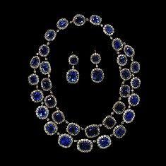 Victoria and Albert Museum : Collier saphirs et diamants (1850)