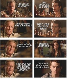 Bahaha everything is Derek's fault! Yeah guess he really isn't Alpha of the Year... Teen Wolf I have discovered gold!! Check out teenwolfmixtapes.tumblr.com