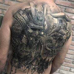 Back tattoo by Camacho Tattoo
