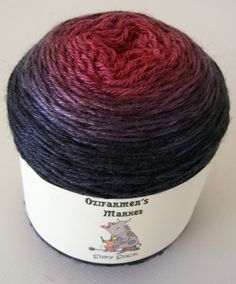 Silky Sock - 4ply Fingering Weight BFL/Silk dark red to black gradient dyed knitting yarn. Colourway - Claret by OzifarmersMarket on Etsy