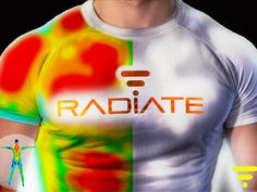 Radiate Athletics: The Future of Sports Apparel by Radiate Athletics, via Kickstarter. No sweat: advanced workout shirt changes color according to your body heat, revealing muscular/ vascular action while keeping you dry. Smart Textiles, E Textiles, Cool Technology, Wearable Technology, Workout Gear, Workout Shirts, Workout Clothing, Workout Routines, Training Apps