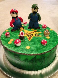 Mario & Luigi cake (More pictures at www.facebook.com/simply.archita)