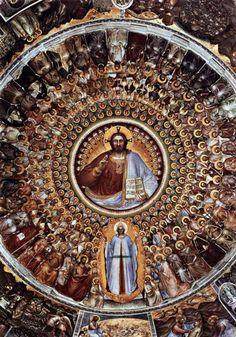 Paradiso, Giusto de' Menabuoi,  1375-76. The dome of Padua's Baptistry (fresco)