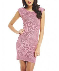 Look at this #zulilyfind! Pink Abstract Bodycon Dress - Women #zulilyfinds