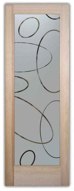 Etched Glass Doors Ovals Pattern Frosted Glass Door Sans Soucie