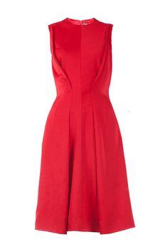 Pinghe - Silk wool red dress